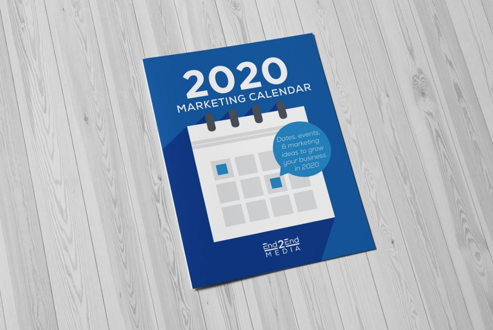 2020 Calendar for your company's marketing Cover by End2End Media